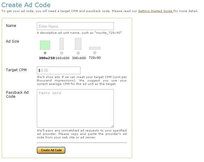 Amazon CPM Ad Code