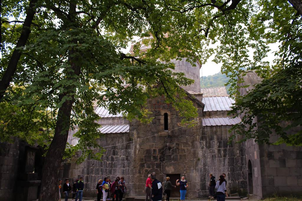 Tourists at Sanahin monastery