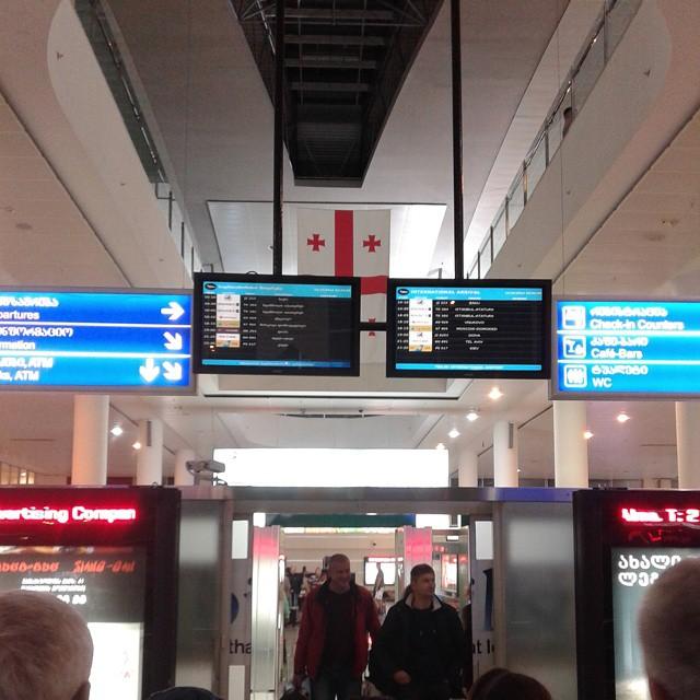 Arrivals at Tbilisi airport
