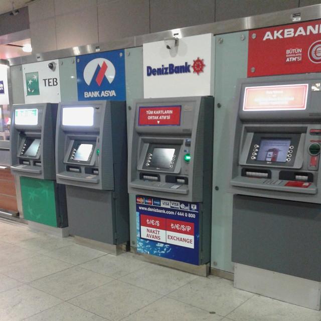 A plenty of ATM's at Sabiha Gocken airport