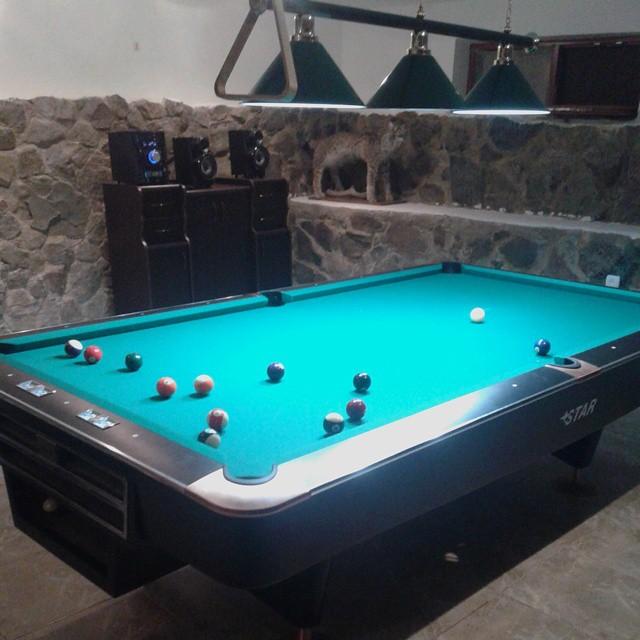 billiard table at Villa Likani