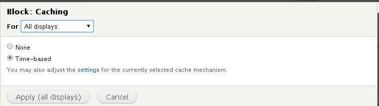 Drupal views block cache