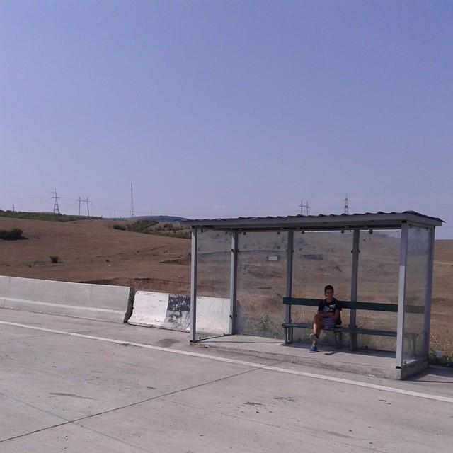 Bus stop near Gori