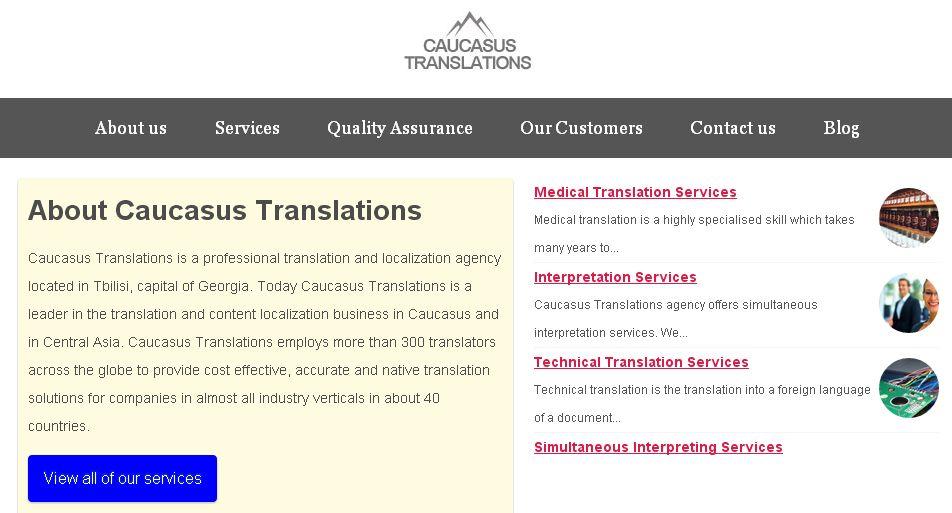 Caucasus Translations