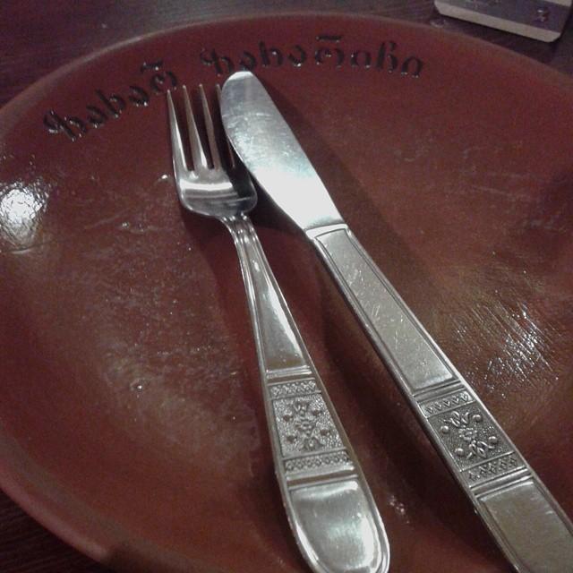 Clay plates at Zakhar Zakharich