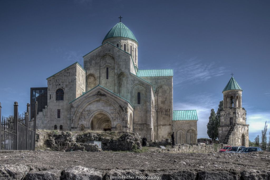 Bagrati cathedral and bell tower in HDR