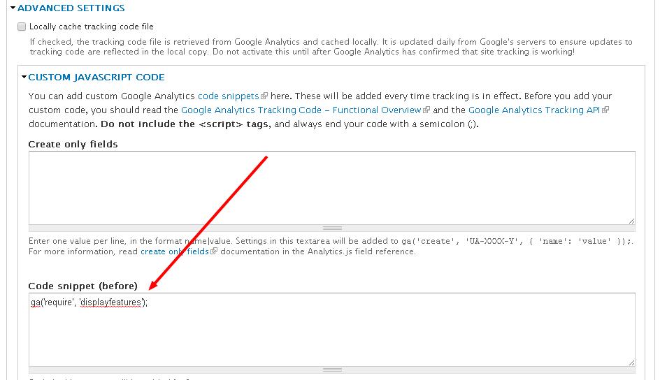 Drupal Custom Google Analytics Code