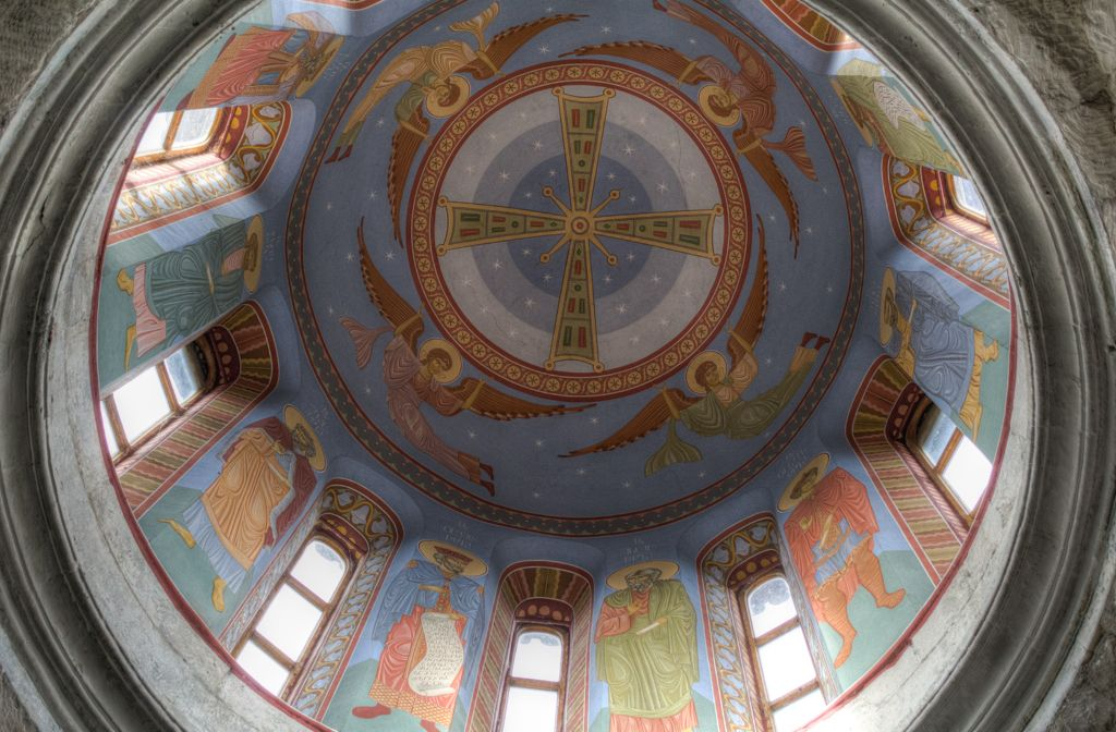 Cupola inside the church builing