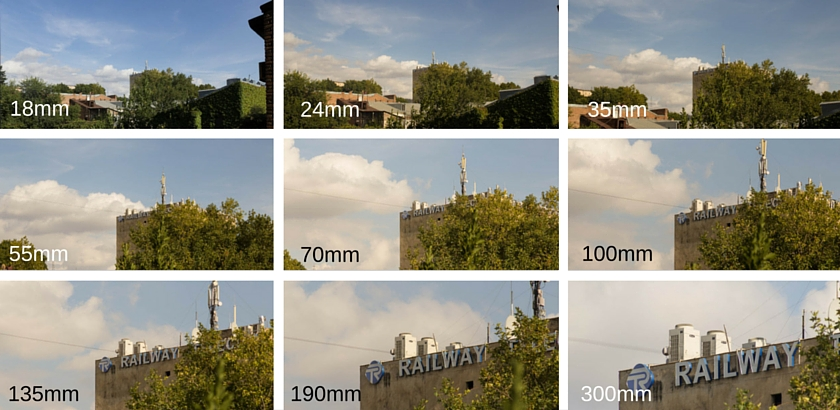 Focal length test with 18mm up to 300mm