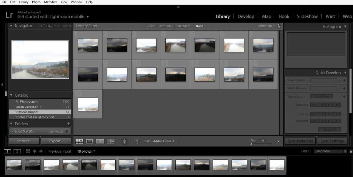 Library folder in Adobe Lightroom