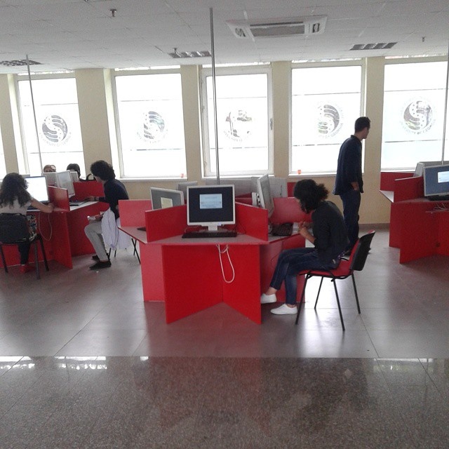 Students have free Internet access