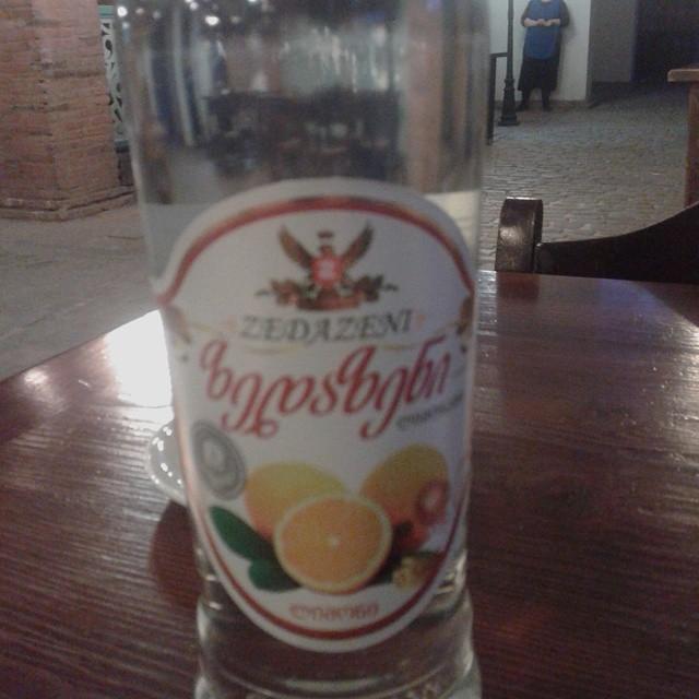 Bottle of tasty Georgian Lemonade