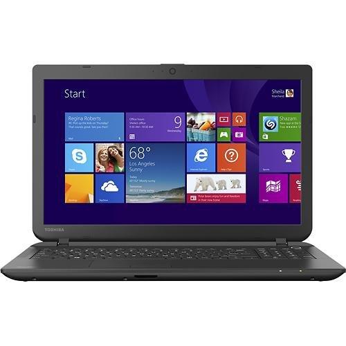 Toshiba Satellite C55-B5202 16-inch Laptop (2.1 GHz Intel Celeron N2830 Processor, 4GB DDR3, 500GB HDD, Windows 8) Jet Black
