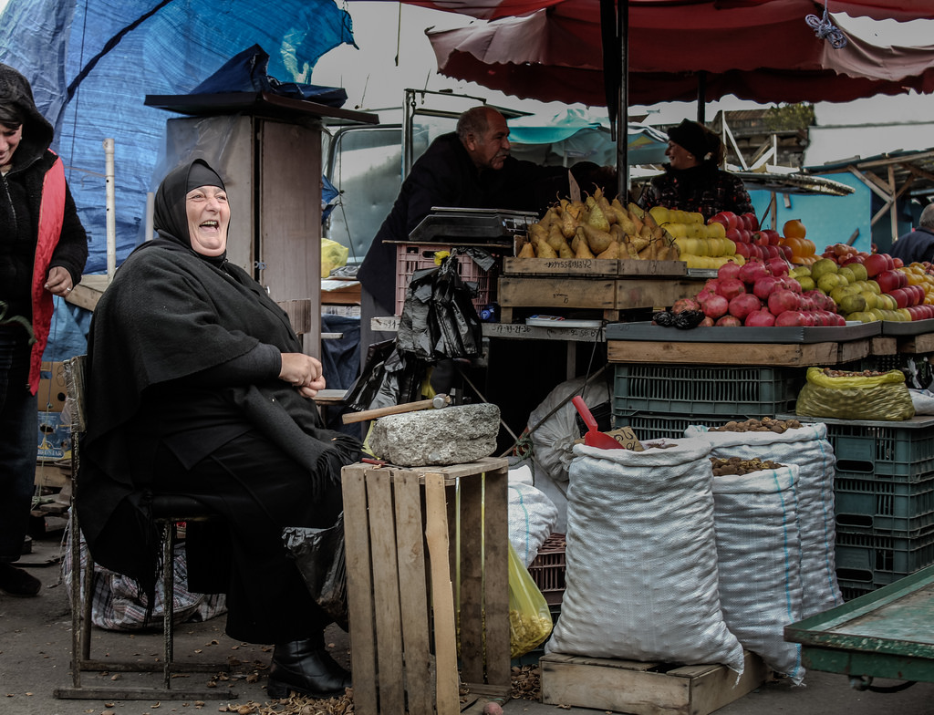 Day 40/365 Nun Cracking Nuts at Tbilisi Bazaar