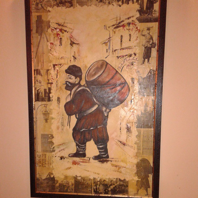 Painting at Zakhar Zakharich