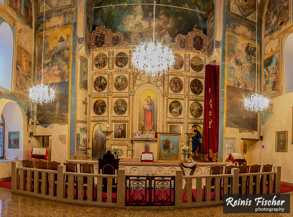 Altar inside Cathedral of Saint George, Tbilisi