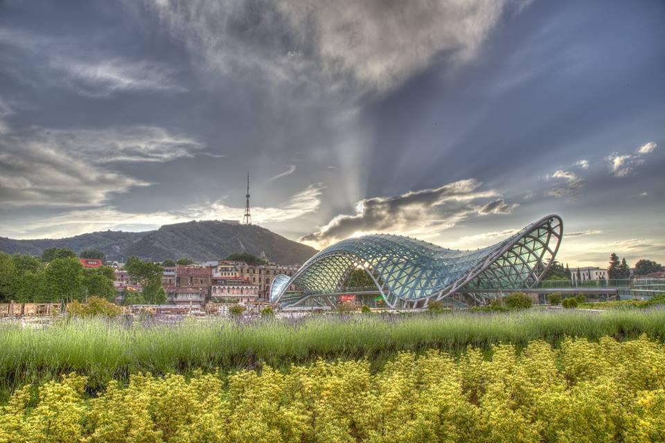 The Bridge of Peace in Tbilisi