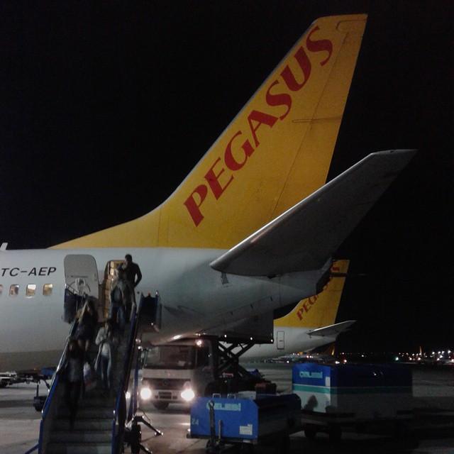 Arrival at Sabiha Gocken Airport by Pegassus