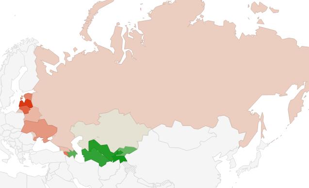 Population changes in former Soviet Union  Reinis Fischer