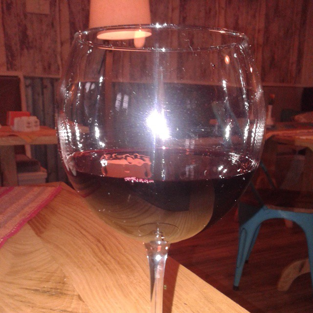 Glass of Red Wine at Cafe Accent