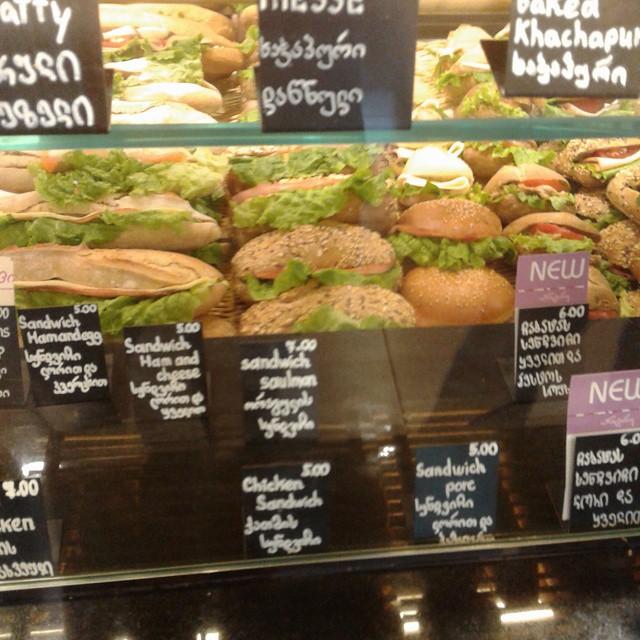 Sandwich bar at Entree