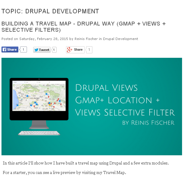 Social Share buttons on Drupal Taxonomy pages