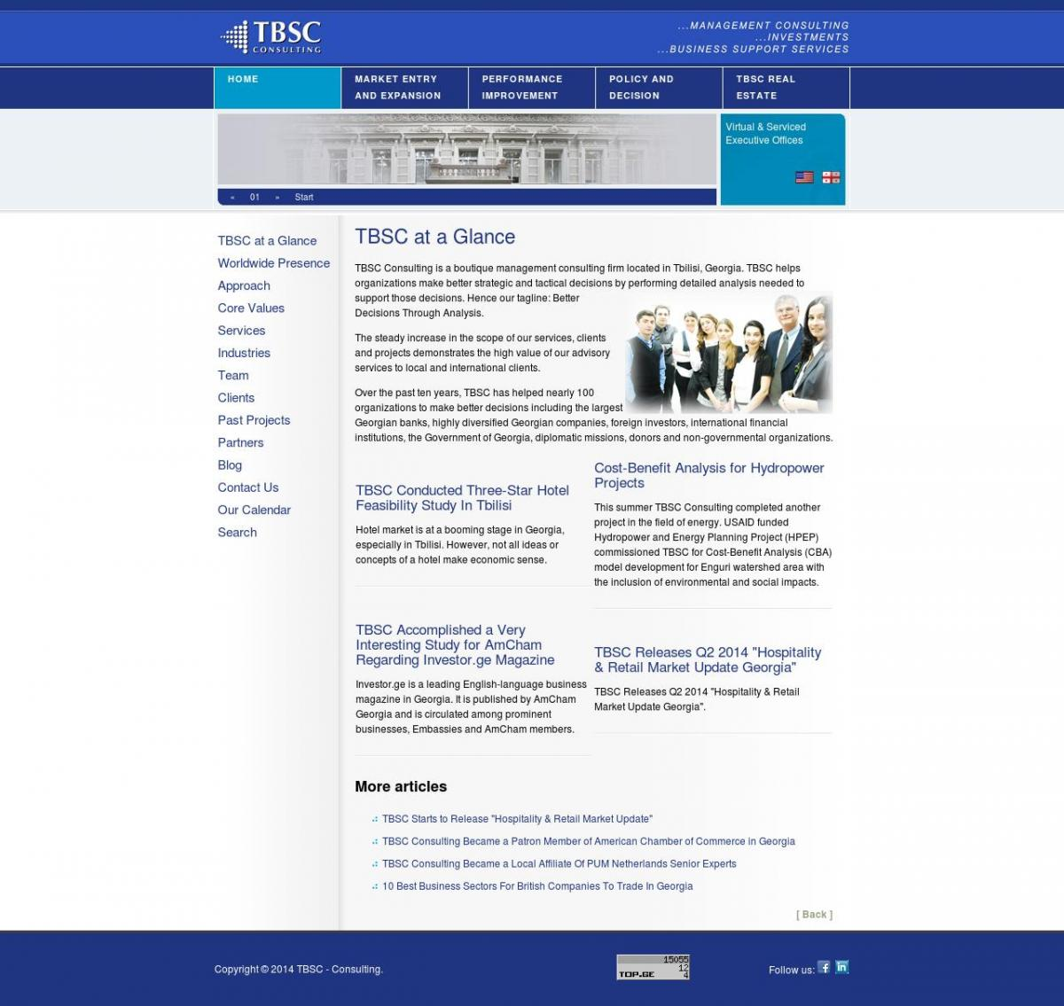 TBSC Consulting Front Page