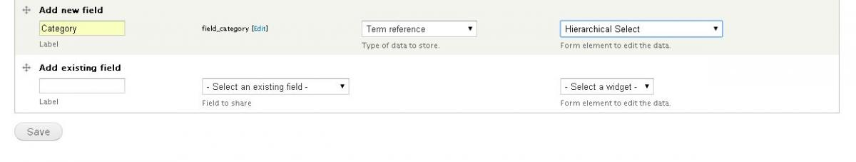 Term Reference Field