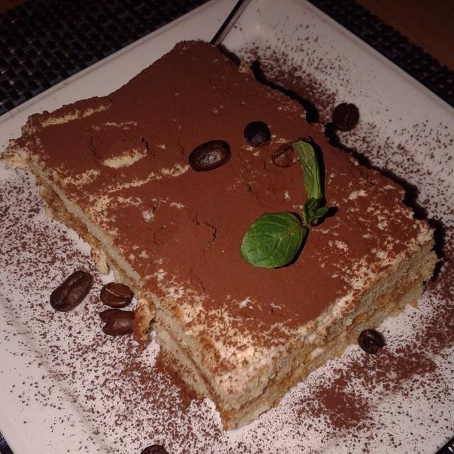 Tiramisu at Cafe Accent