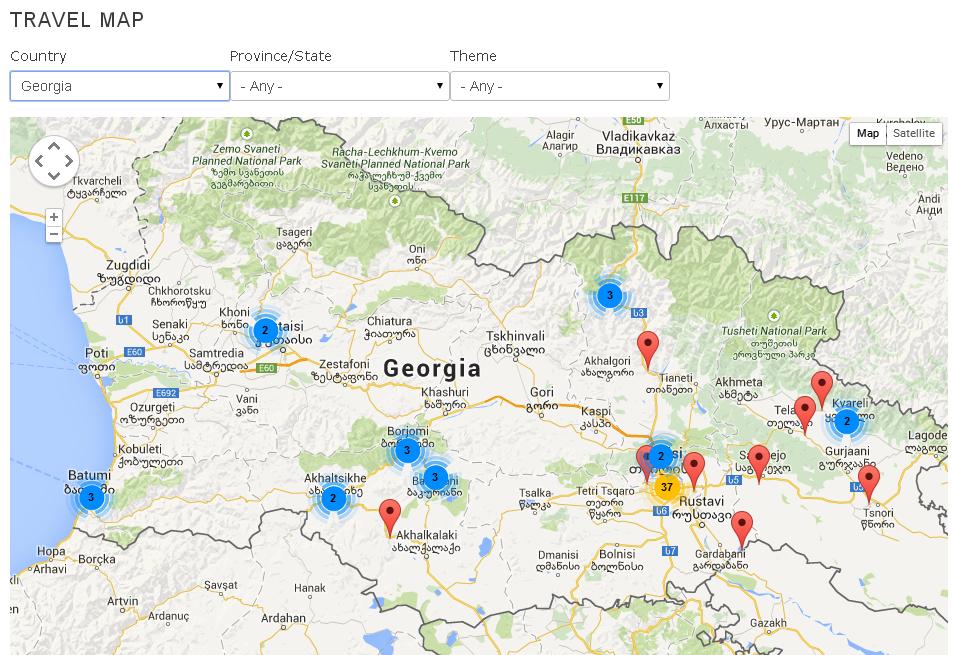 Drupal travel map