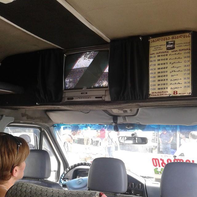 TV in Minibus