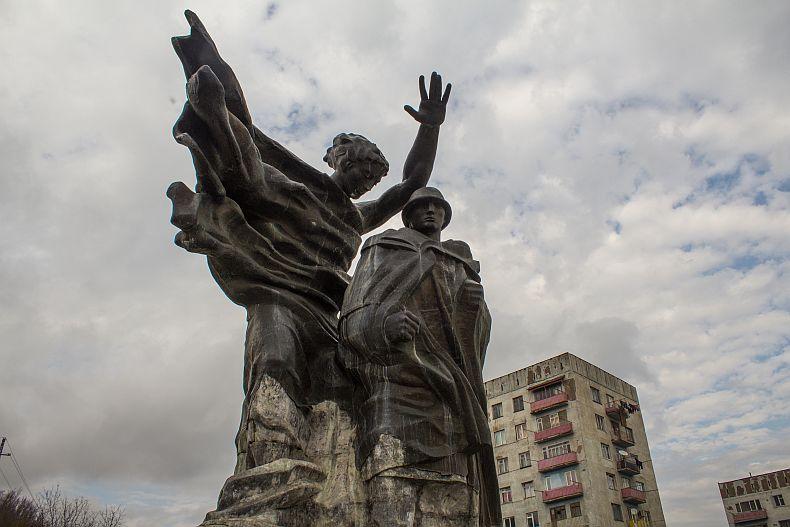 Soviet era monument in Chiatura