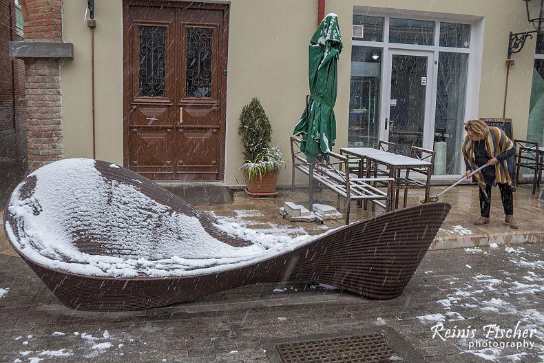 Snow in Tbilisi