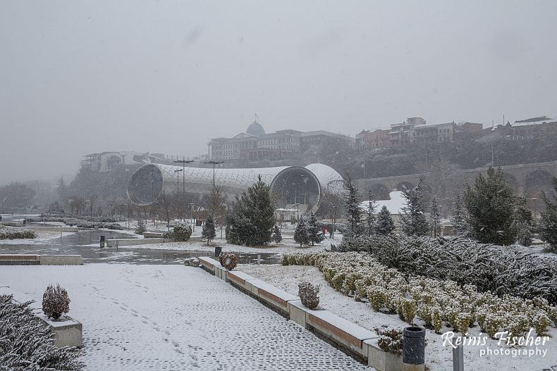 Rike park in snow