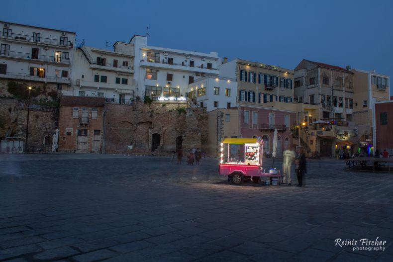 Street vendors in Chania