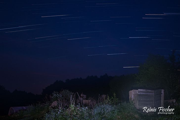 Third attempt of star trail photography