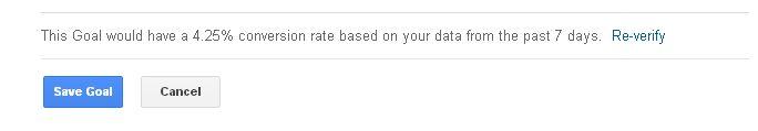 Verify Google Analytics Goal