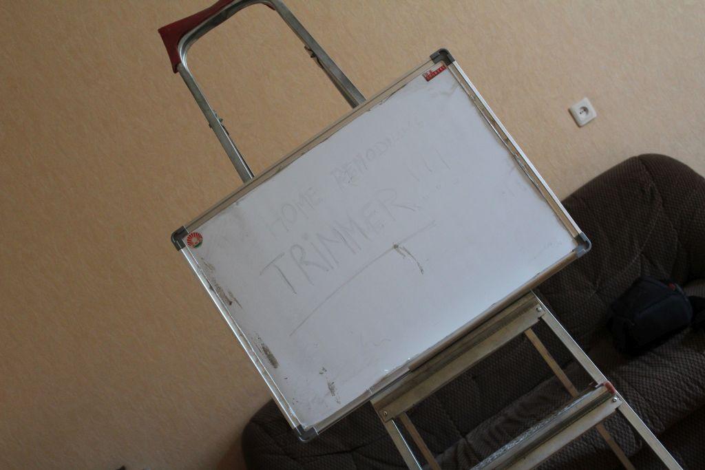 Improvised whiteboard holder
