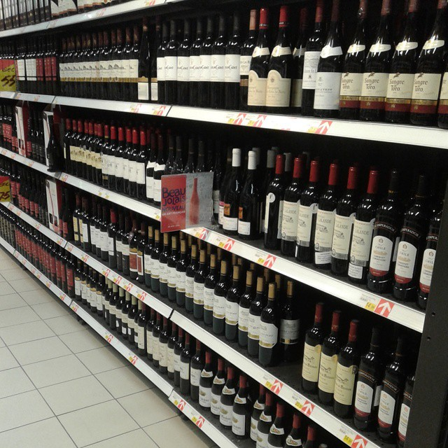 Plenty of Wine at Tbilisi Mall (Carrefour)